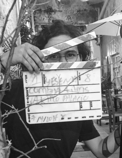 """<b class=""""aboutt1""""> AKIRO PALACIO </b> <br> <b class=""""aboutt2""""> Junior Director / Photographer / Editor </b> <br><br> <b class=""""aboutt3""""> Composition artist, lover of ink. </b> <br><br> <b class=""""aboutt4""""> His only motive """"... filmmaking"""". </b> <br> <b class=""""aboutt5""""> 14 frames. </b>"""